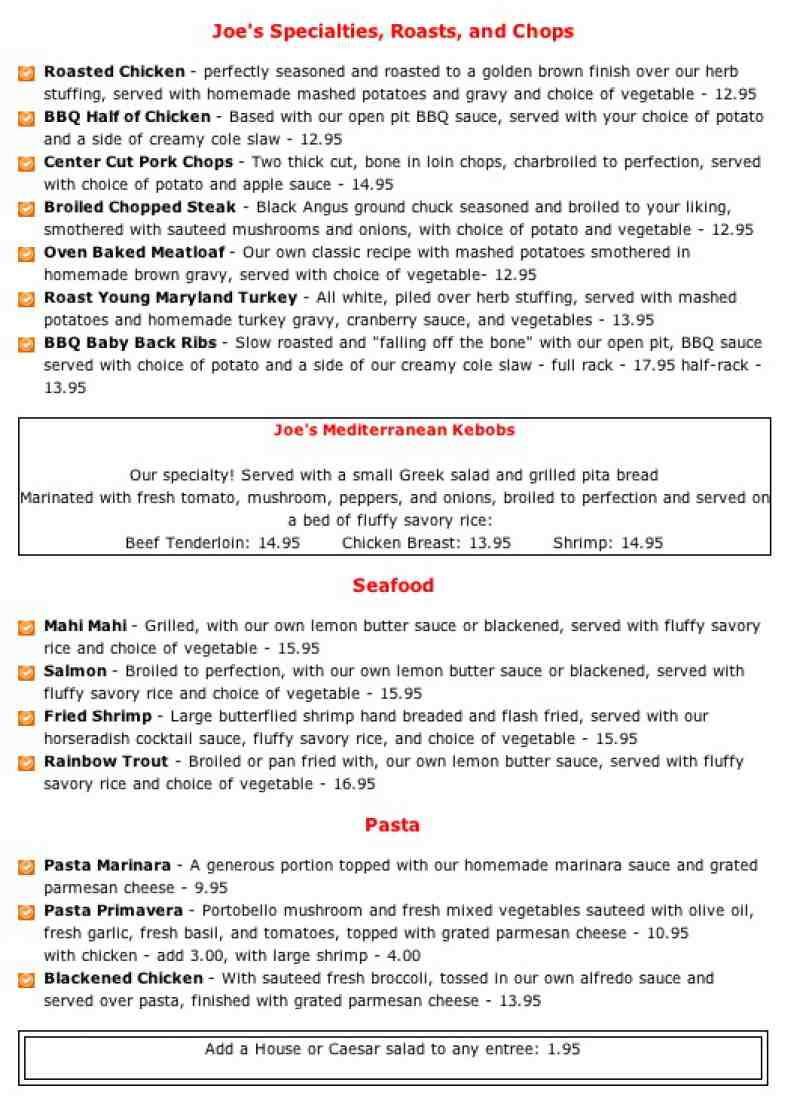 Lobster House Joes Review | Lobster House