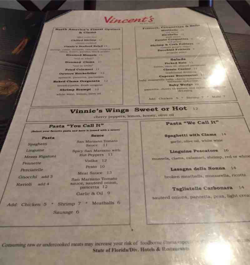 Vincent S Italian Kitchen Lauderdale By The Sea