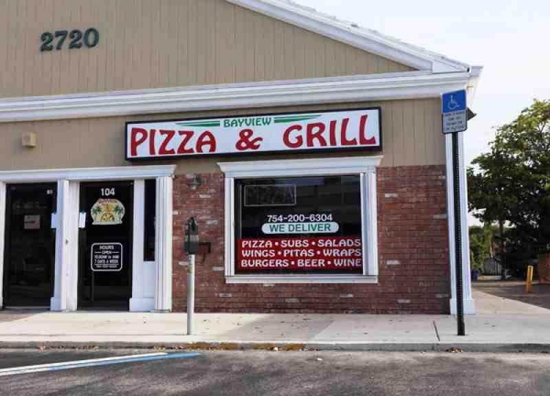 Bayview Pizza Grill 33301 Restaurant 2720 E Oakland Park Bl
